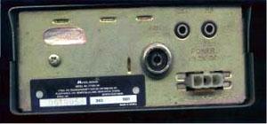Midland 2001 CB Radio Back Panel