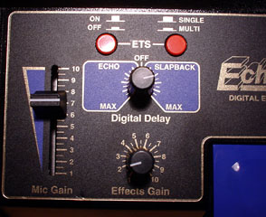 Close up of the Astatic Echomax 2000 controls