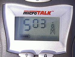 Cobra MT220 LCD Display