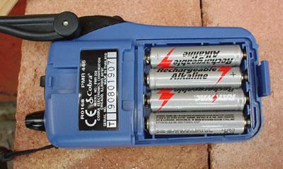 Cobra Microtalk 250 Battery Compartment