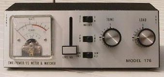 A typical CB Radio SWR Meter and Matcher