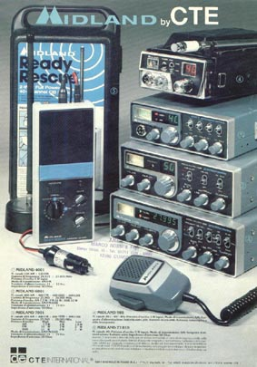 Midland Radio Advert showing series of Radios