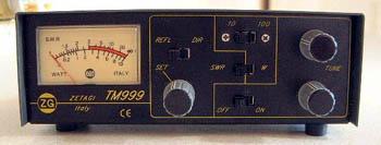A Zetagi Transmatch TM999 SWR and Matcher combination device.