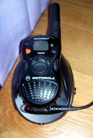 Motorola T6222 PMR-446 Radio in Charger