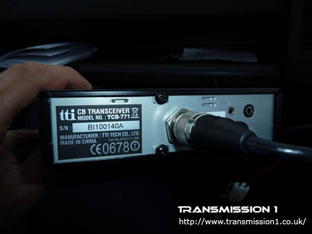 TTI TCB-771 Rear Connections