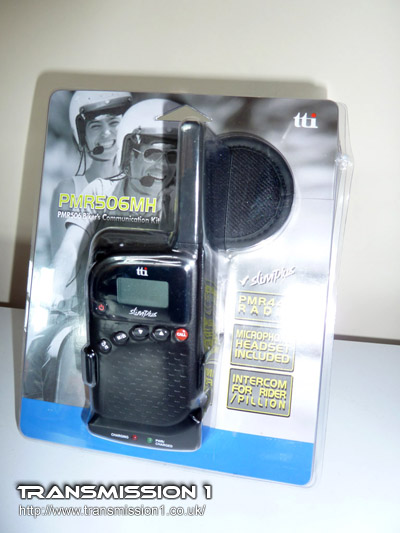 "TTi PMR-506MH ""Motorcycle Package"" complete with headsets"