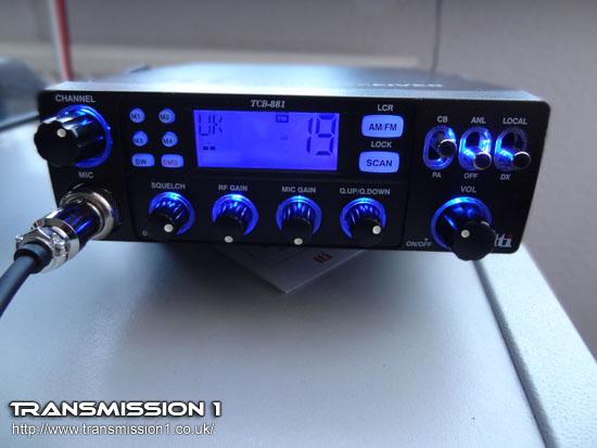 TTi TCB-881 Illuminated in Blue